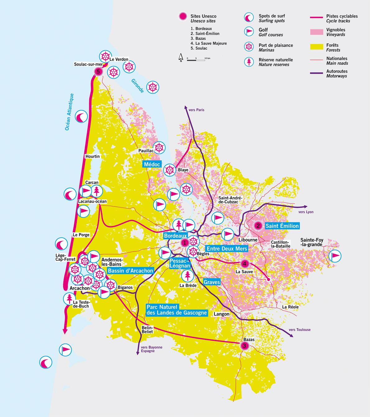 Bordeaux en cartes| Vivre à Bordeaux et en Gironde